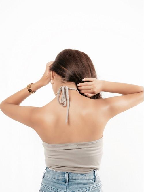 Basic Sling Halter Neck Top