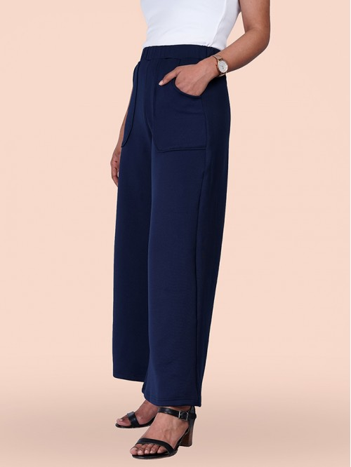 Pocket Wide Fit High Waist Trouser