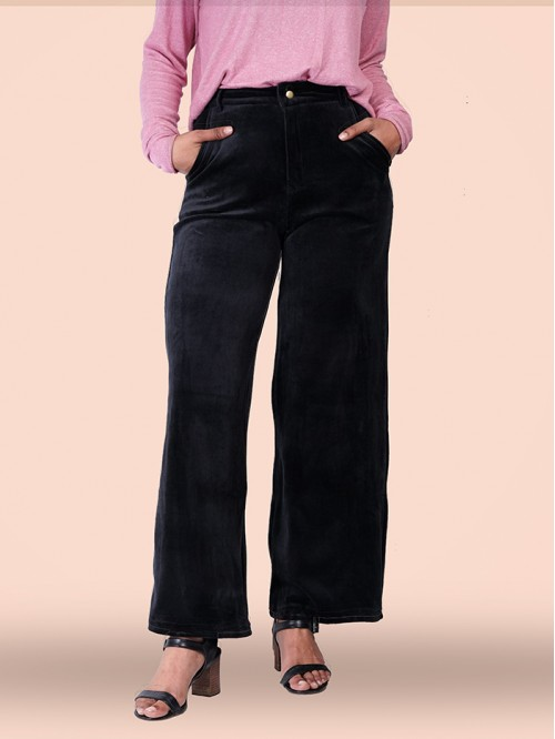 Belted High Waist Wide Fit Trouser
