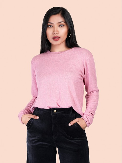 Crew Neck Knit Top