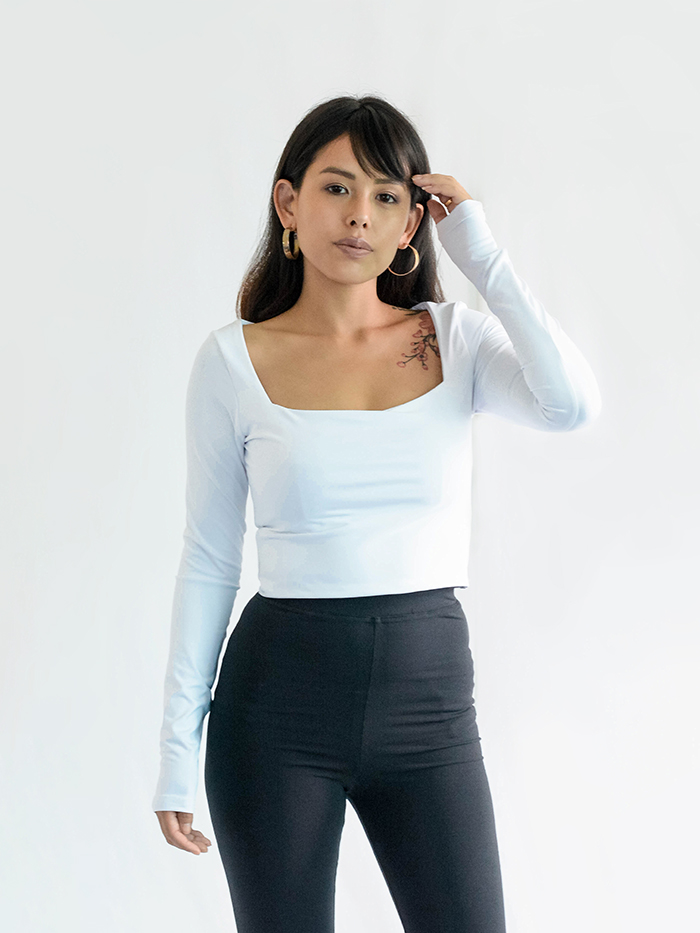 Full Sleeve Square Neck Top