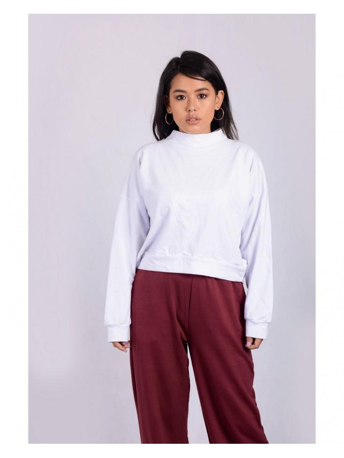 Plain Turtle Neck Sweatshirt