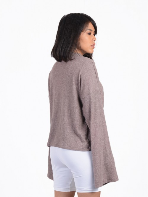 Turtle Neck Flare Sleeve Knitwear