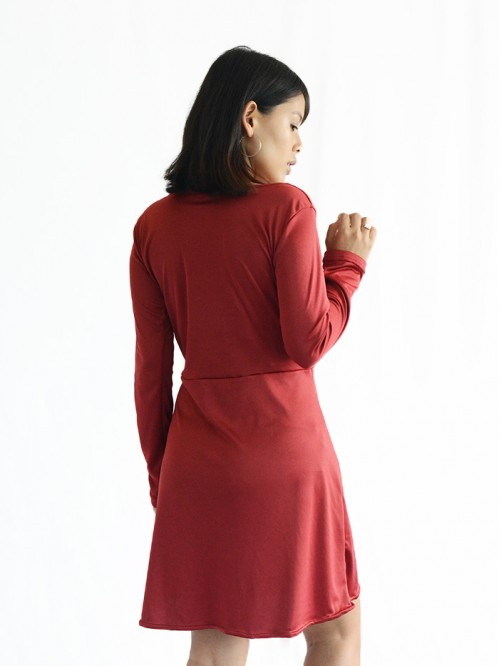 Full Sleeve Wrap Dress