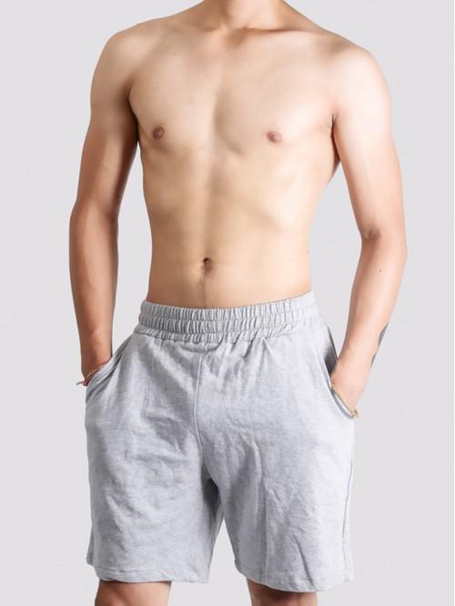 Men's Grey Longline Swim Trunk