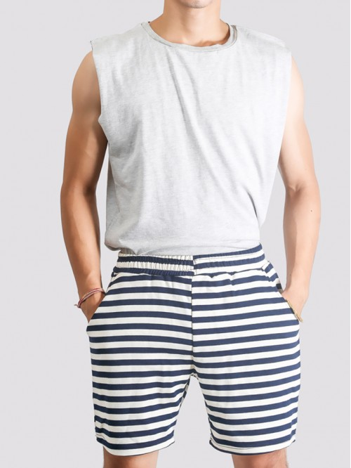 Men's Striped Longline Swim Trunk