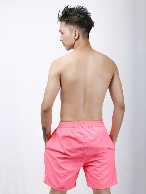 Men's Pink Longline Swim Trunk