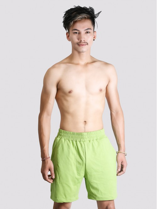 Men's Lime Green Longline Swim Trunk