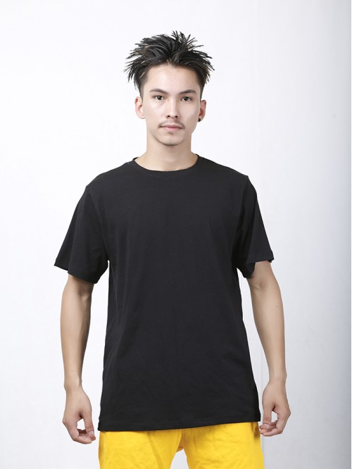 Men's Black Crew Neck Top