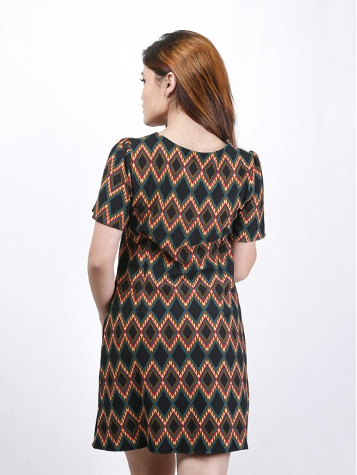 Boatneck Half Sleeve Dress