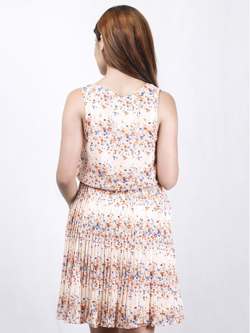 Sleeveless Gather Dress