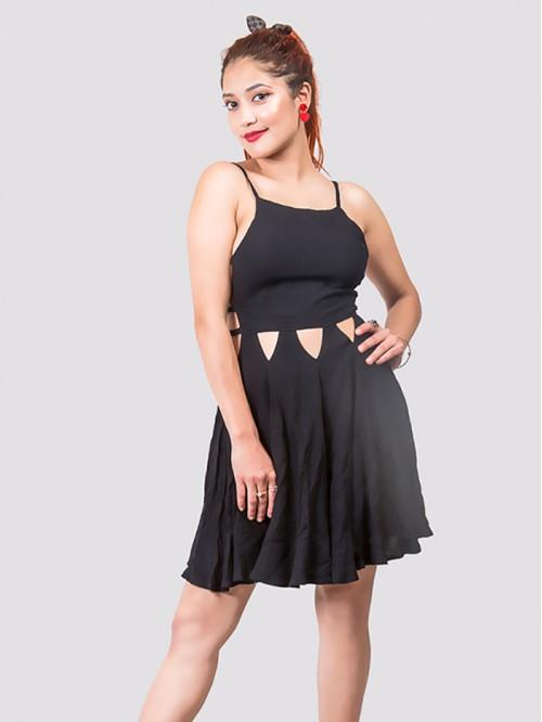 Waist Cut Out Sling Dress