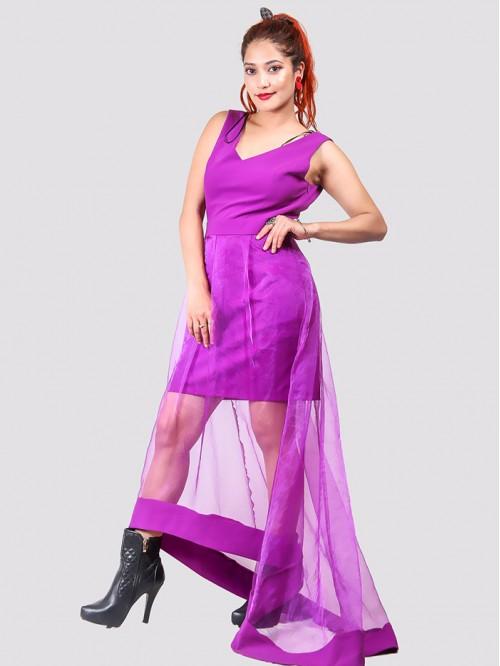 Sleeveless Net Detail Dress