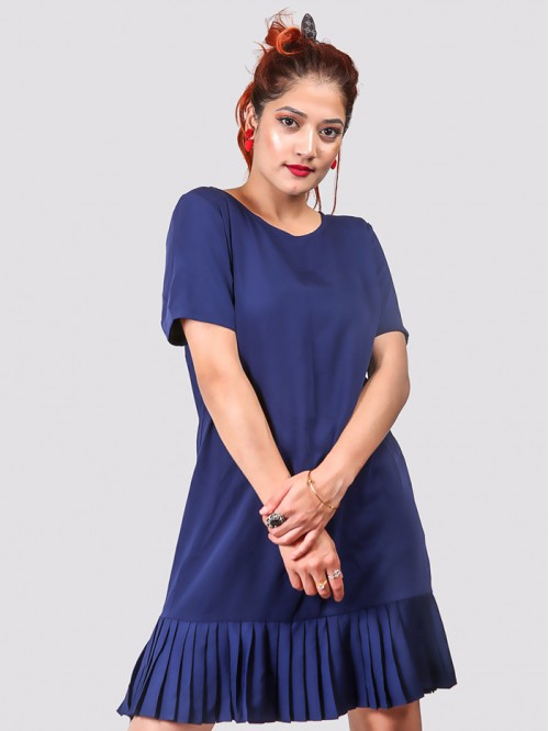 Half Sleeve Ruffle Dress