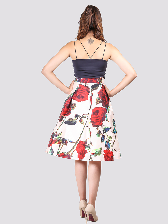 Floral Gather Skirt