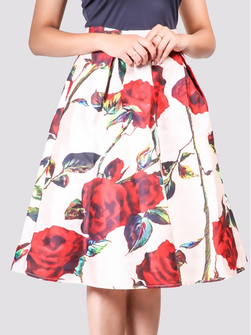 Floral Gather Skirt