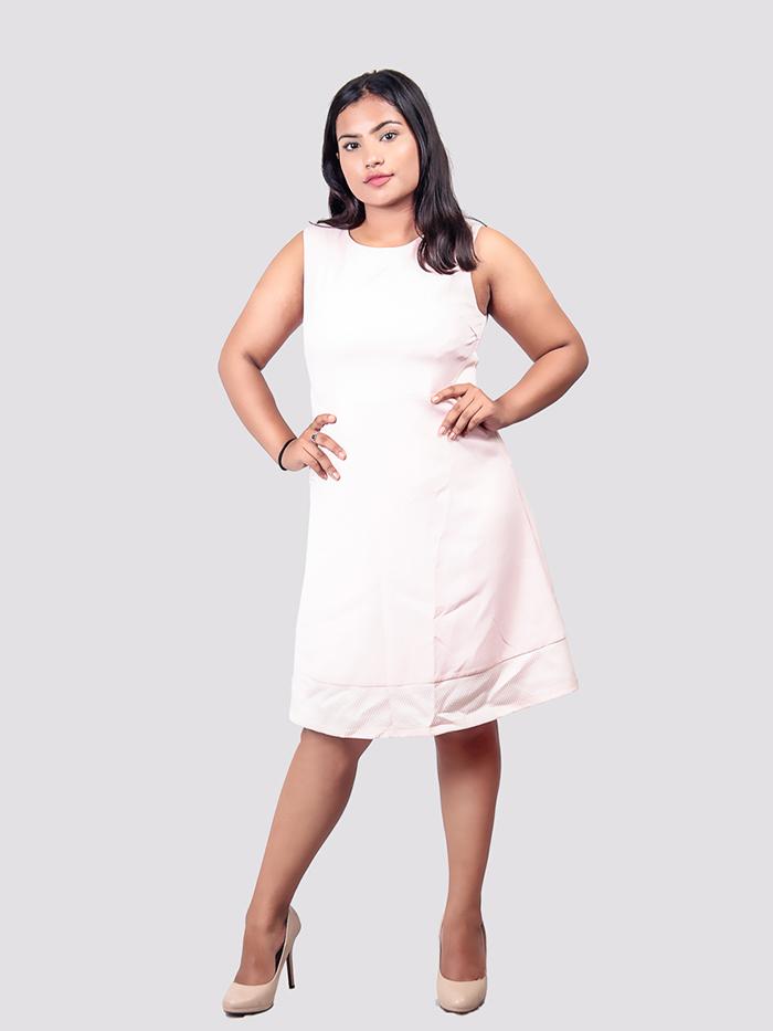 Boatneck Sleeveless Dress