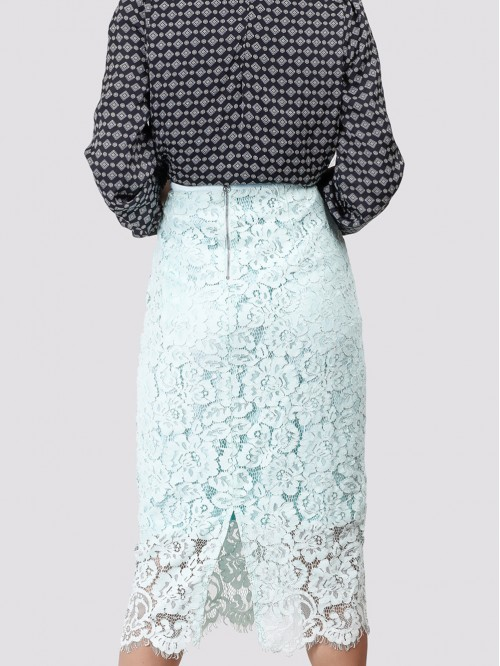 Mint Midi Lace Skirt