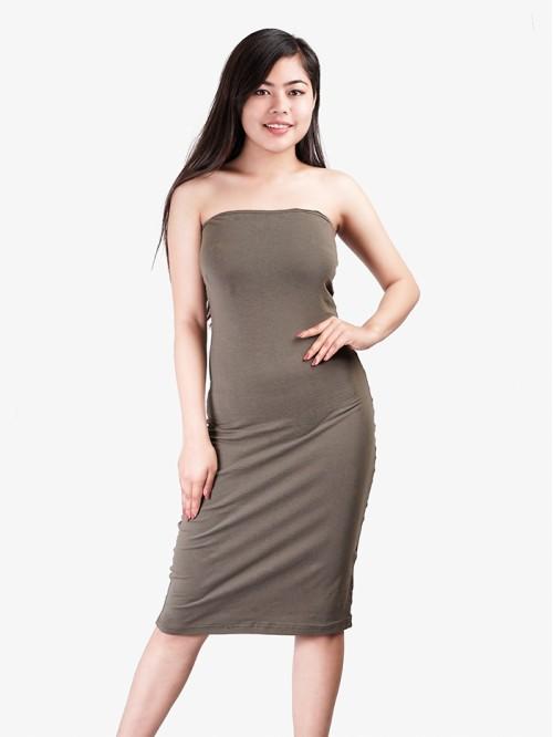 Kylie Inspired Tube Midi Dress