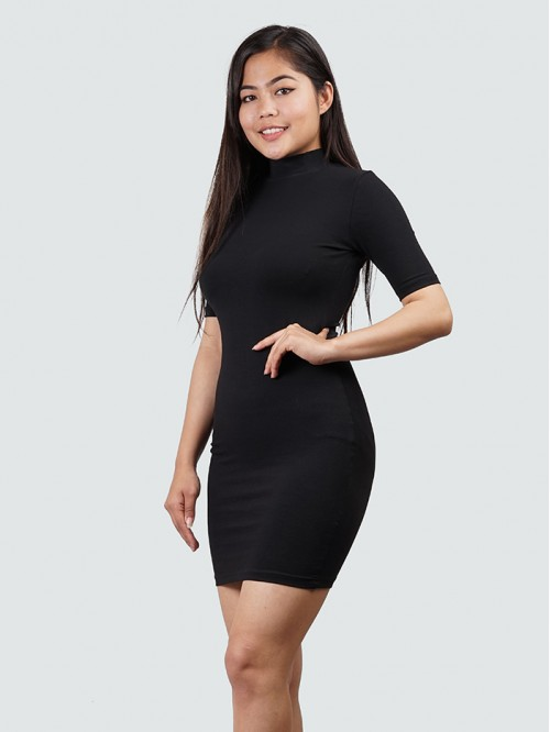 Kylie Inspired Turtle Neck Half Sleeve BodyCon Dre...