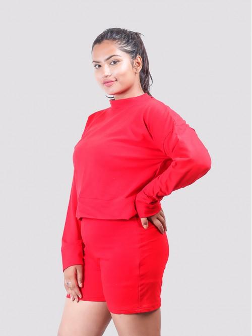 Red Kylie Inspired Sweatshirt