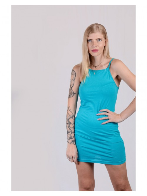 Teal Basic Sling Dress