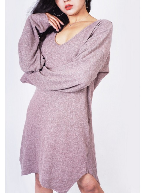 Basic Asymmetric Knit Dress