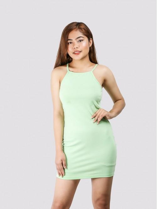 Apple Green Basic Sling Dress
