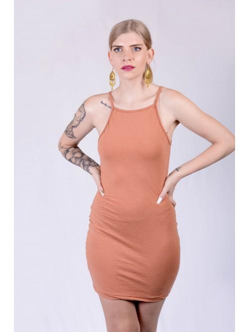 Peach Basic Sling Dress