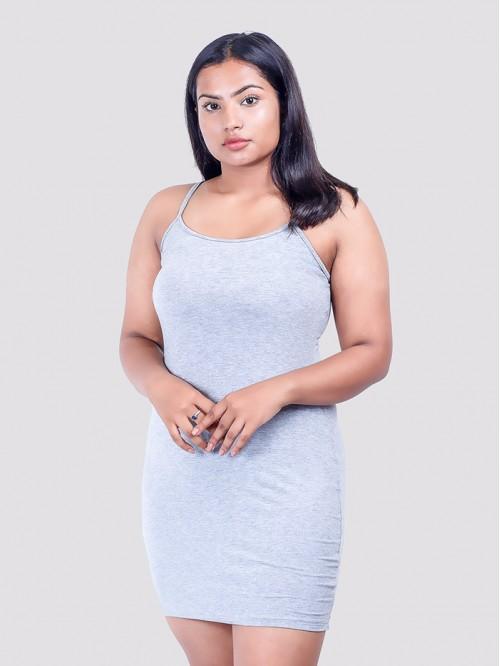Grey Basic Sling Dress