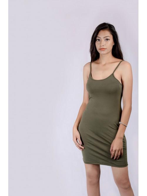 U Neck Sling Dress