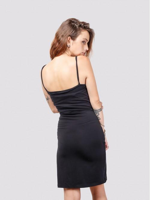 U Neck Silky Sling Dress