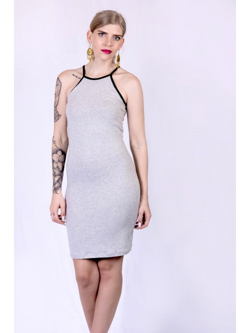 Basic Contrast Sling Dress