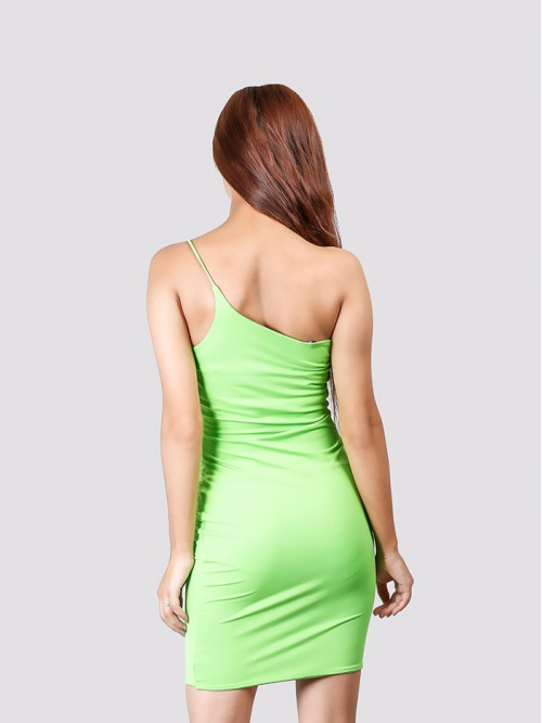 Parrot One Side Sling Bodycon Dress