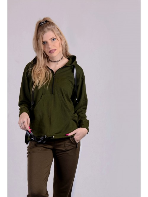 Front Zip Hoodie with Pocket