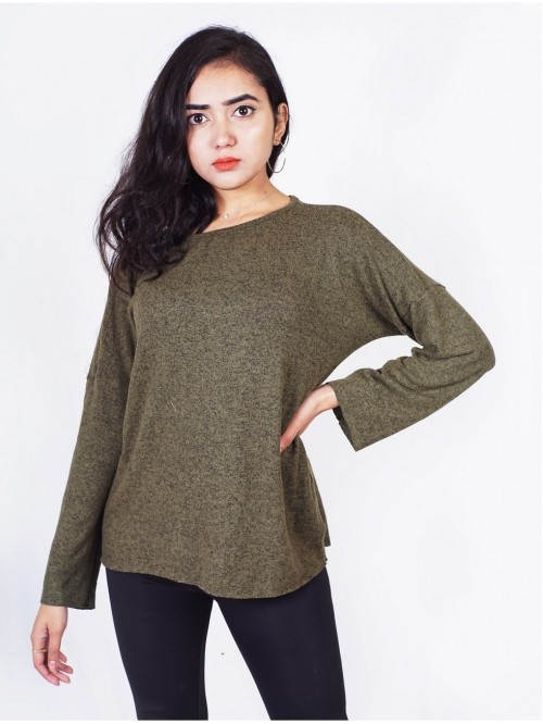 Full Sleeve Boatneck Sweatshirt