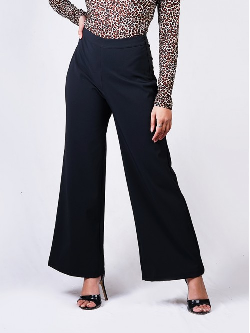 Flare Pants with Side Zip Details