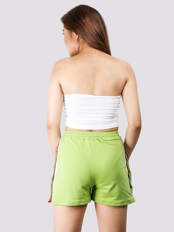 Olive Snap Button Short