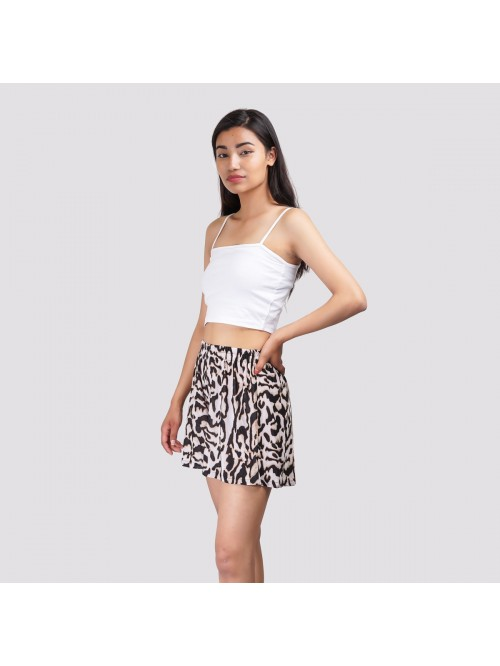 Snow Leopard Flare Short