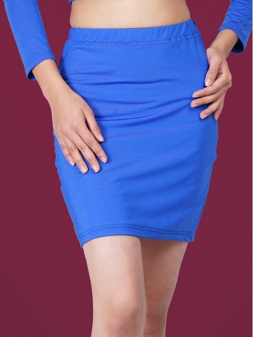 Royal Blue Mini Skirt