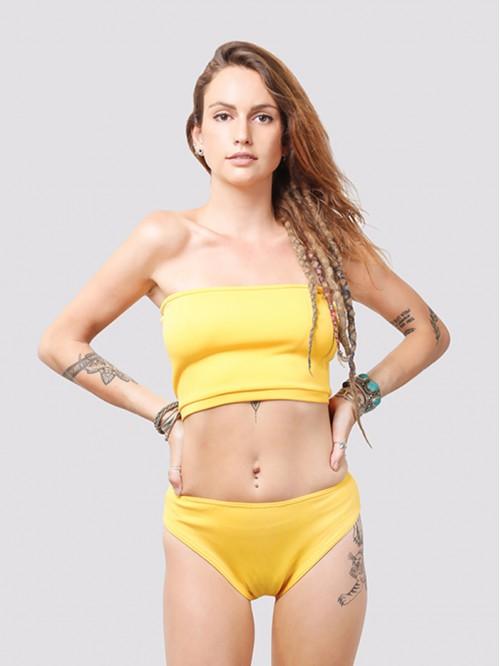 Yellow Tube Bikini