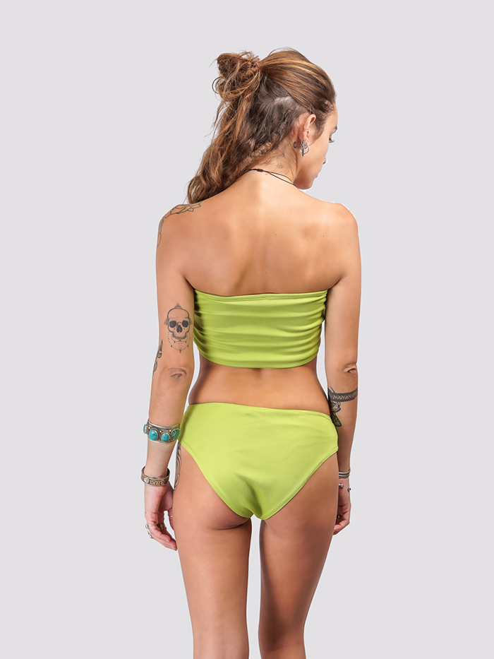 Lime Green Tube Bikini