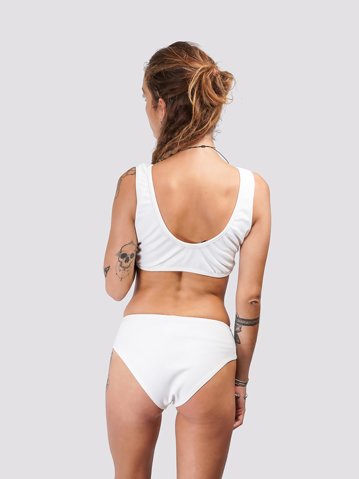 White Front Tie Up Bikini