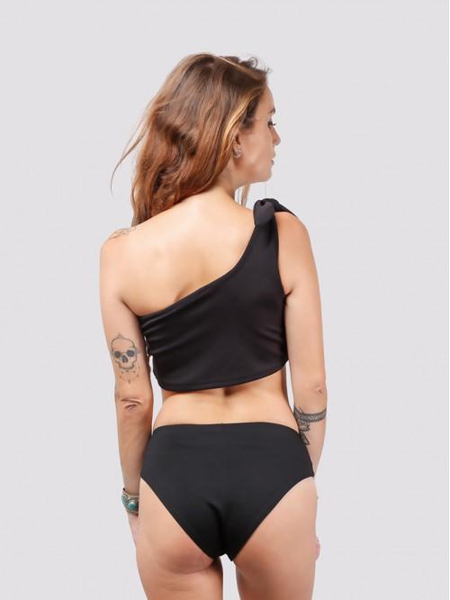 Black One Sided Shoulder Bikini
