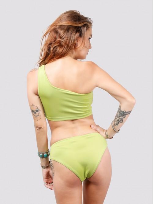 Lime One Sided Shoulder Bikini