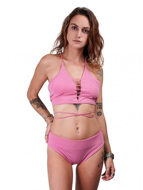 Caged Plunge Neck Backlace Bikini