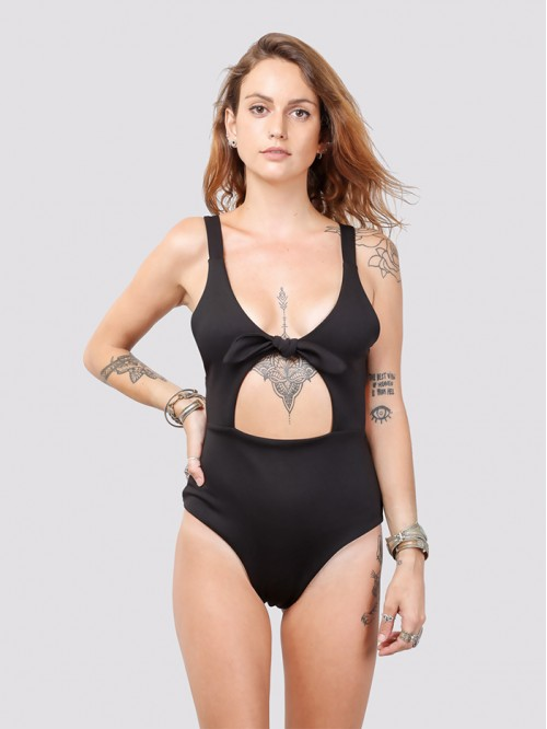 Back Tie-Up Swimsuit