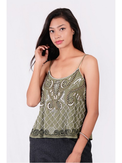 Embroided Sling Top