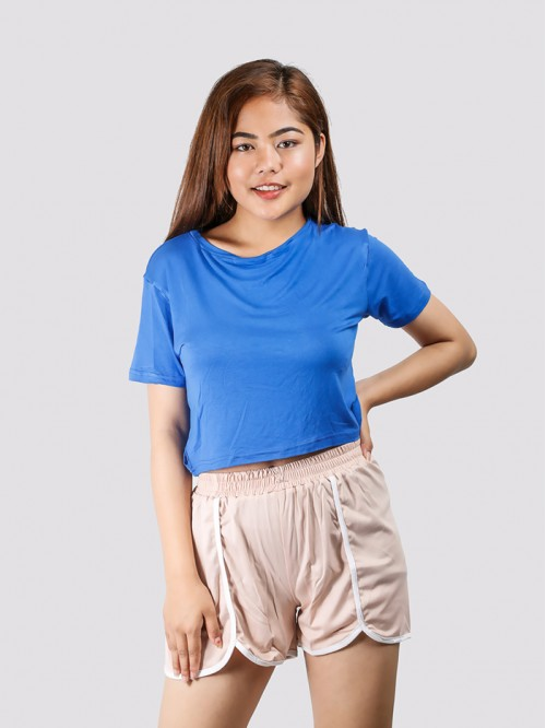 Royal Blue Basic Crop Top
