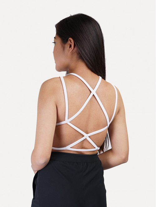 Back Criss-cross Lace Detail Top